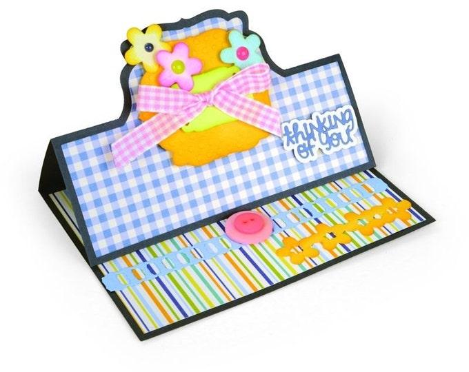 New! Sizzix Framelits Die Set 22PK - Card, Bubbly Stand-Ups by Stephanie Barnard