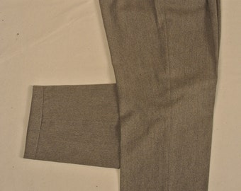 Arazzo Gray Wool/Cashmere Blend Dress Pleat Trousers Men's Waist Size: 37x30