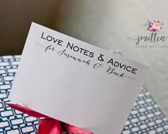 25 Custom Advice Cards | Love Notes & Advice | Wish Cards | Wedding | Engagement | Shower | L03