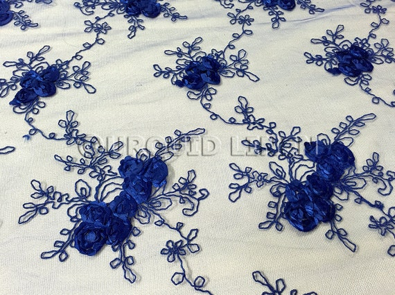 Baby rose embroidery fabric in royal beautiful lace
