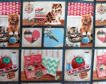 Krafty Kittens Crafts Sewing Notions Patch Cotton Fabric #3505 By the Yard