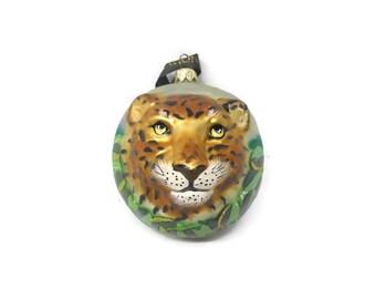 National Geopraphic Christmas Ornament, Leopard Christmas Ornament, Vintage Christmas Ornament, Christmas Ornament