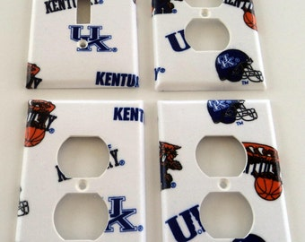 University of Kentucky Wildcats Light Switch Plate Outlet Cover Wall Decor Bundle Set