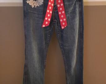 Teen Girls jeans   HAPPY VALENTINE'S DAY