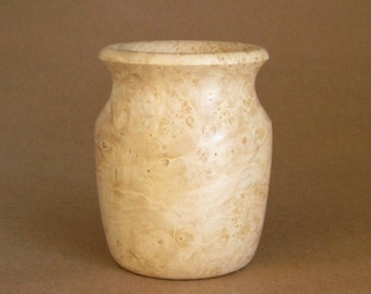 Handcrafted Vase Turned in Maple Burl