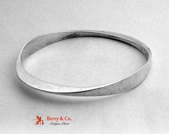 SaLe! sALe! Ronald Pearson Sterling Silver Modernist Bangle Bracelet 1960