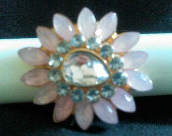 Gorgeous Pink Flower Ring.