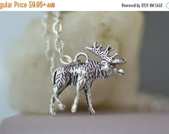 SALE Moose Necklace, Elk, cute gift