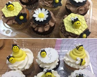 Bumblebee Fondant Cupcake topper
