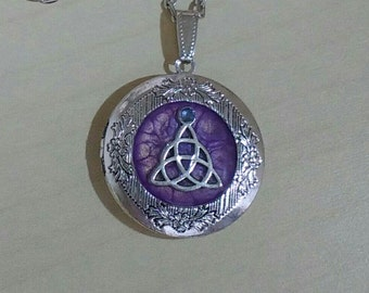Antique Silver Triquetra Locket Hand made pendant