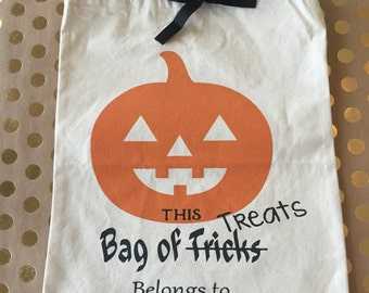 Halloween Treat Bags / Trick or Treat Bags / Costume Bags / Halloween Candy Bags / Kids Halloween Bags / Halloween Tote Bag / Gifts for Kids