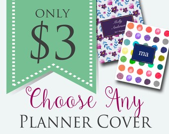 Editable Planner Cover - Printable Planner - Day Planner - Home Management Binder - Customized Planner Cover INSTANT + EDITABLE