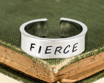 Fierce Ring - Adjustable Aluminum Cuff Ring