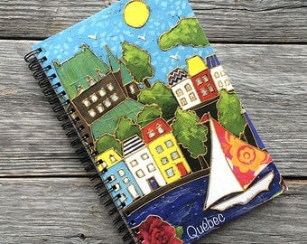 Note book, journal, diary, cahier, notes, school supplies, illustration by Isabelle Malo