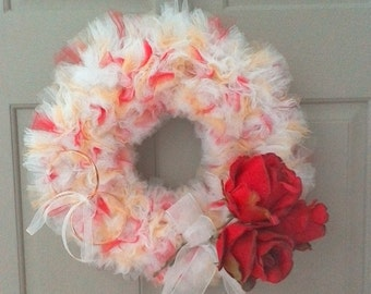 Red Rose Romance Wedding Wreath