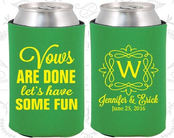 Green Wedding, Can Coolers, Green Wedding Favors, Green Wedding Gift, Green Wedding Decor (60)