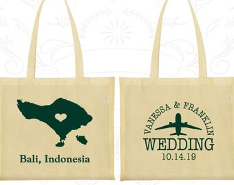 Indonesia Tote Bags, Indonesia Wedding, Wedding Favor Canvas ToteBag, Destination Wedding Bags, Wedding Tote Bags, Bali Tote Bags (159)