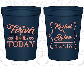 Plastic Cups (386) Personalized Cups, Wedding Cups, Personalized Plastic Cups, Stadium Cups, Party Cups, Wedding Cup