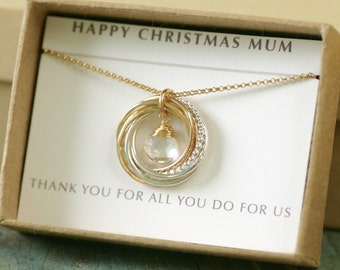 Gift for mother of the groom necklace, 6th anniversary gift for mom on wedding day gifts for mom from daughter - Lilia