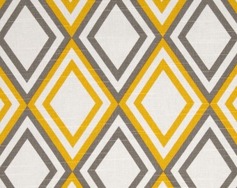 Yellow and Taupe, Upholstery Fabric,3yards, Home Decor Fabric, Designer Fabric, Cotton, Home Furnishing, Home Decor
