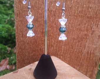 """Swarovski Crystal """"wrapped"""" candy earrings"""