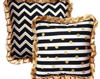 Satin Ruffle Pillows Etsy