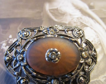 Beautiful Filigree Antique Pin