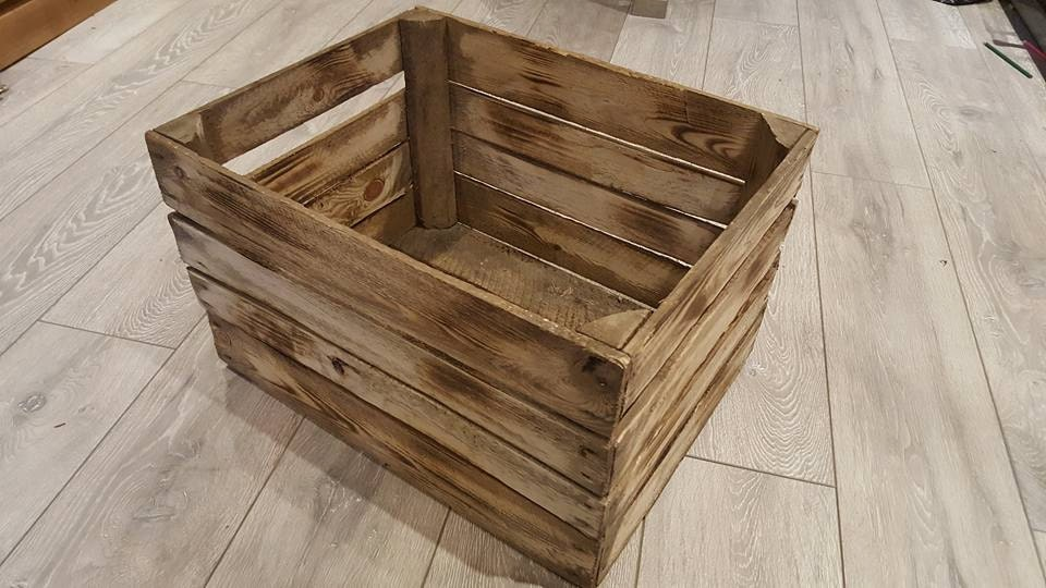 Crate Bookshelf Rustic