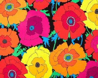 Alexander Henry - Mexican Poppy - 8284A - Black/Multi