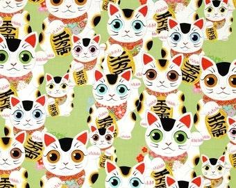 Alexander Henry - Fuku Kitty - #8410-C - Sage