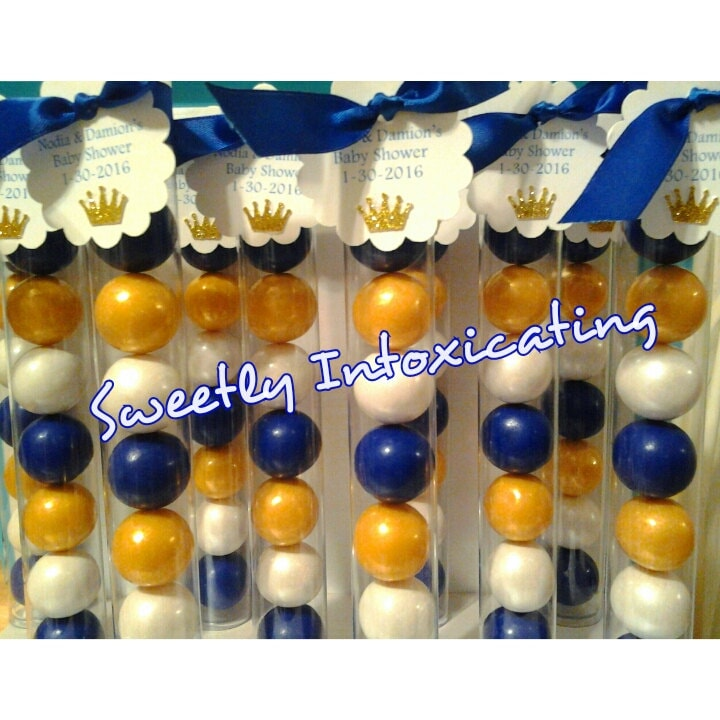 12ct royal blue white gold prince theme baby shower