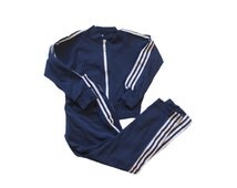 VINTAGE 70's / for kids / sweatsuit / gym suit / blue and white / new old stock / size 4 and 6 years