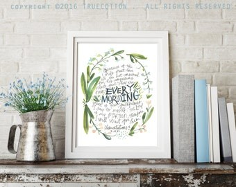 New Every Morning Lamentations 3 - PRINT