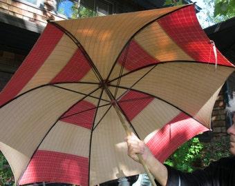 Victorian Umbrella Beach Umbrella Cotton Umbrella Parasol Multicolor Umbrella Wood Handle