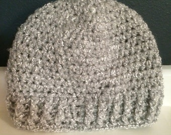 Not Just Another Gray Beanie with Ribbing
