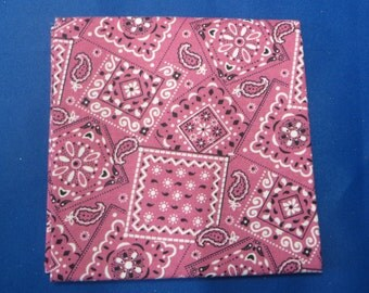 Pink Bandana Fabric Fat Quarter