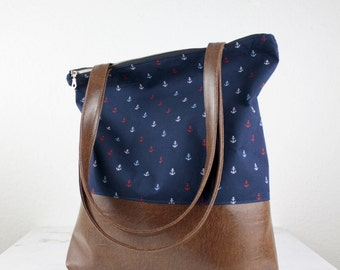 NEW! Dark blue anchor bag Messenger