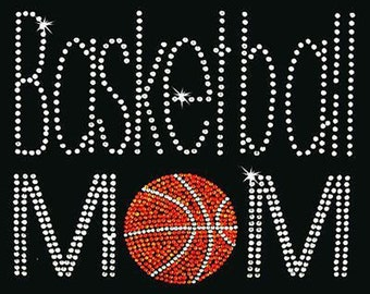 Rhinestone Transfer - Hot Fix Motif - Basketball Mom