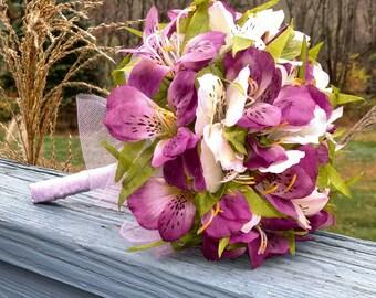 Silk Flowers (Alstroemeria) Toss Bouquet
