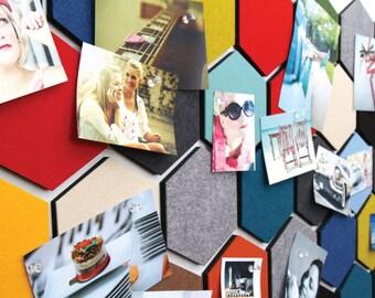 Felt Sandwich Smart Board (H) - hexagon, felt wall decor sticker, interior accessories / 10DO40