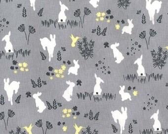 Half Yard - 1/2 Yard of Frolic in Fog - HOUSE OF HOPPINGTON by Violet Craft - Michael Miller Fabrics