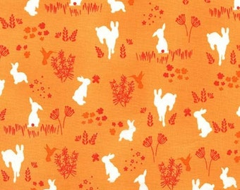 One Yard - 1/Yard of Frolic in Melon - HOUSE OF HOPPINGTON by Violet Craft - Michael Miller Fabrics