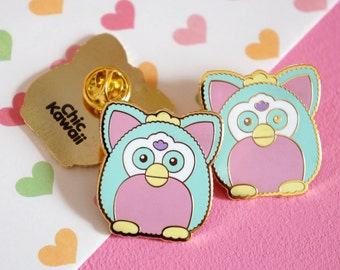Enamel pin similar Furby toys 90 candy party kawaii pastel pins