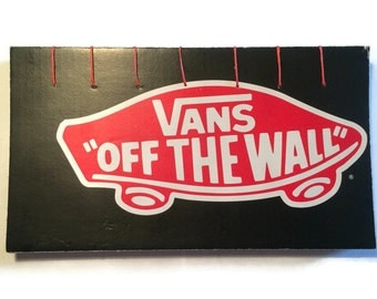 Coptic Stitched Journal  Recycled VANS Shoe Box  Blank Notebook Plain Pages