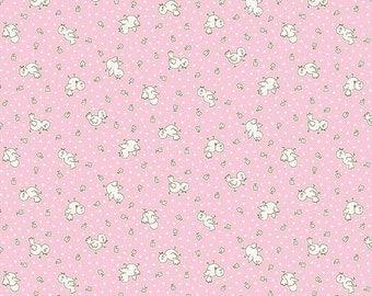 Apple Farm Chickadee Pink by Elea Lutz for Penny Rose Fabrics C5454-Pink