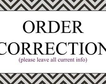 Order Correction