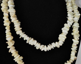 ON SALE - Mother of Pearl Free Form Necklace