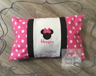 Kids pillow Mickey Mouse Minnie Mouse Disney Inspired Pillow cases Personalized Minnie Pillow Cover Kids Bedding Girls Minnie Mouse pillow