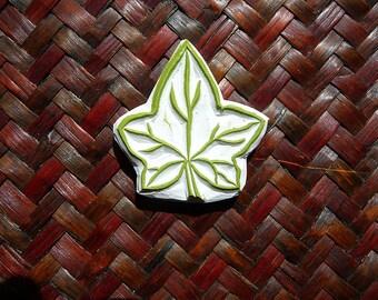 Rubber Stamp, Ivy Leaf, Hand Made, Leaf Stamp Design