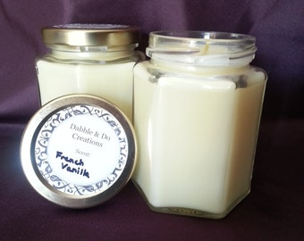 Hand-Poured Scented Candle - French Vanilla